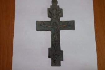 крест бронза 17 см длина 10 см ширина